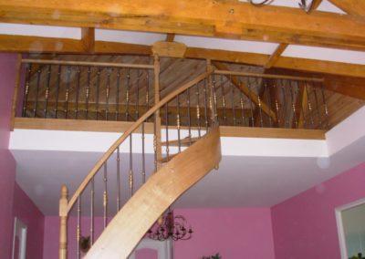 escalier chêne 2/4 tournant