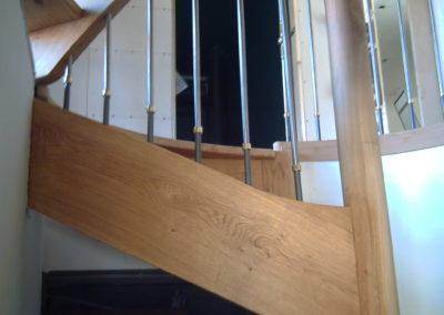 photo escalier bois inox