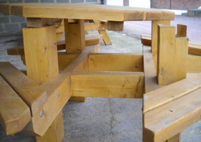 menuiserie table avec banc
