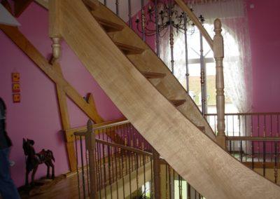 Escalier chêne sans contre marche