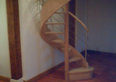 escalier hélicoïdal en chêne