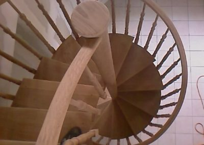 escalier hélicoïdal chêne