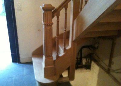 escalier chêne poteau de départ