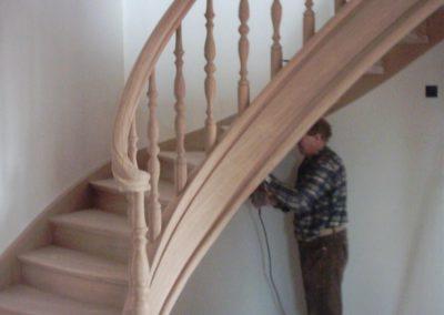 escalier chêne volute