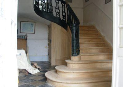 photo restauration habillage escalier château