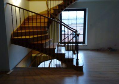 Escalier courbe à l'anglaise